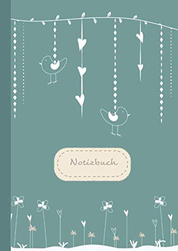 CreaForge Design Notizbuch A4: | liniert | 140 Seiten mit Seitenzahlen & Inhaltsverzeichnis | XXL Notizheft Softcover matt | Tagebuch | Journal | Ideenbuch | Schule & Studium