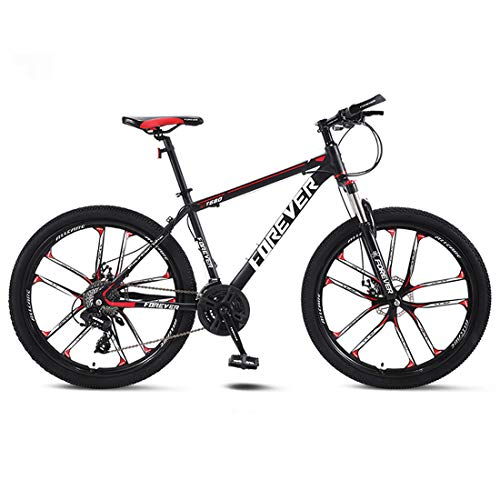 CPY-EX Erwachsene 26 Zoll Mountainbike, Strand Snowmobile Fahrrad, Doppelscheibenbremse für Fahrräder, Magnesium Alufelgen, einen Mann eine Frau General Purpose (21/24/27/30 Speed),A3,21