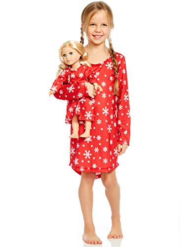 Leveret Snowflake Matching Doll & Girl Nightgown 6 Years