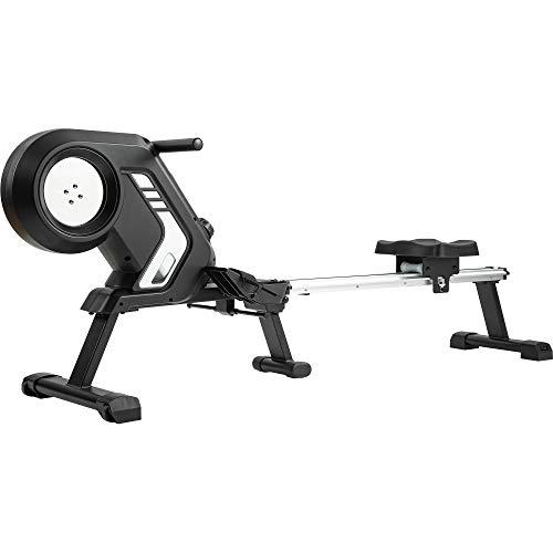 Merax Rudergerät magnetisches Rudergerät mit 8 einstellbaren Stufen, LCD-Monitor, 150 kg Maximalgewicht, Cardio-Fitnessgerät für den Heimgebrauch, faltbar