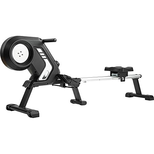Merax Rowing Machine Magnetic Rowing Machine Folding Rowing Machine with Magnetic Clamping System, LED Monitor,with Adjustable Resistance,up to 150 kg User Weight, Foldable