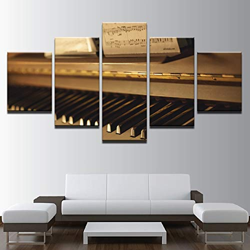 Zaosan Pintura Mural HD 5 Piano Antiguo Cuadros Instrumento