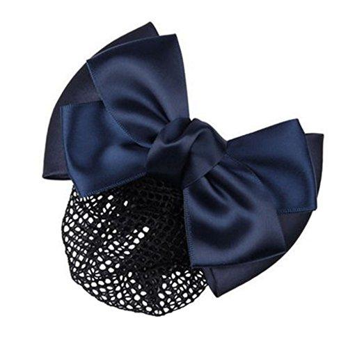 3pcs Bow Tie barette cheveux clip Snood Net coiffure pour les femmes, A