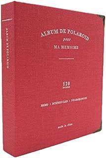 Woodmin 120 Pockets PU Leather Binder Coil Photo Album 3-inch Fujifilm Instax Films, Fuji Mini 8 8+ Mini 9 70 90 25 50s 7s Photo Book Ticket Album Guest Book (Red)