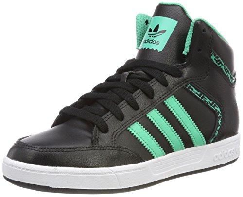 adidas Herren Varial Mid Hohe Sneaker, Schwarz (Core Black/Hi-Reset Green/Footwear White 0), 44 EU