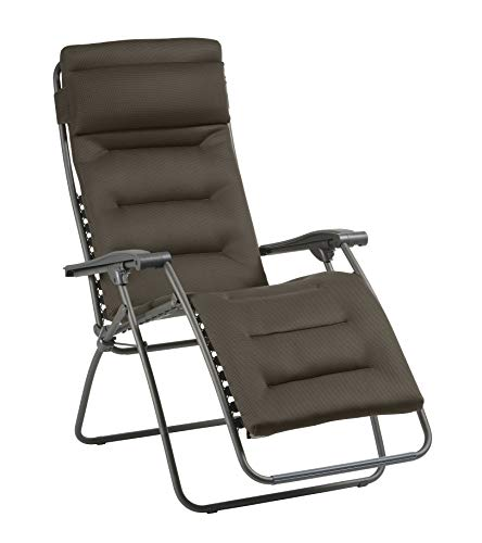 Lafuma Relaxe MOBILIER Recliner, Foldable and Adjustable Armchair, Lace System, RSXA Clip, Air Comfort, LFM2039-8719, Taupe, Standard