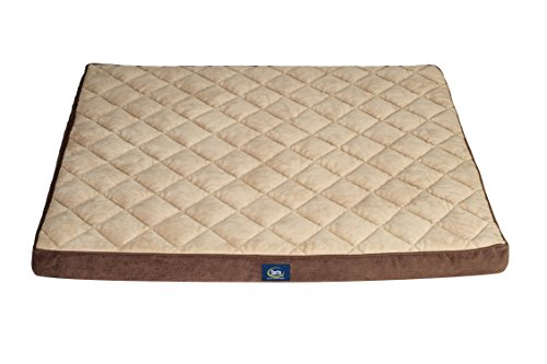 Serta Ortho Quilted Pillowtop Pet Bed, Extra Large, Brown