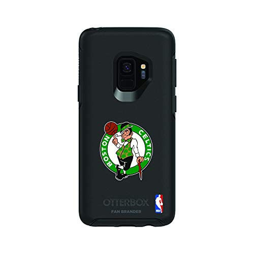 Fan Brander NBA Black Phone case, Compatible with Samsung Galaxy S9 and with OtterBox Symmetry Series (Boston Celtics)