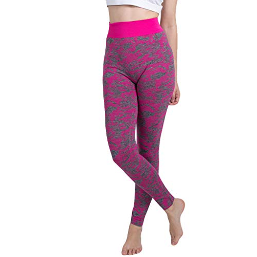 Asalinao Leggings für Damen Nahtlose Tarnung gestrickt Yoga Hosen Sporthose Seamless Pants