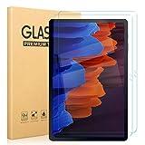 Pnakqil [2 Stück Schutzfolie für Samsung Galaxy Tab S7 Plus, Bildschirmschutzfolie 9H Festigkeit HD Klare Bildschirmschutz Anti-Kratzen Panzerglas Schutzglas für Samsung Galaxy Tab S7 Plus - 12,4 Zoll