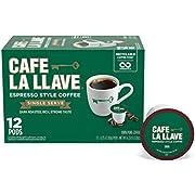 Café La Llave Espresso K-Cup (72 Count) Recyclable Single-Serve Coffee, Compatible with Keurig K-Cup Brewers