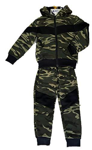 VanessasShop Jungen Camouflage Jogginganzug Hose + Jacke in den Größen 98-164 (104-110)