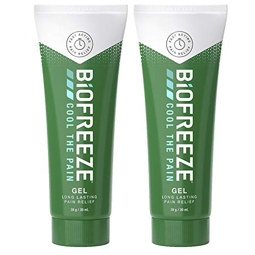 Biofreeze Pain Relieving Gel, 30ml Tube, 2 Pack Bundle, Cooling Topical Analgesic, On-the-Go Use, Long Lasting, Soothing, Targeted Pain Relief, Cold Therapy, Fast Acting for Muscle, Joint, & Back Pain