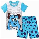 柔らかい子供夏のパジャマのセット半袖ピジャマス子供赤ちゃん女の子の女の子パジャマの男の子の寝室の赤ちゃんの家庭衣服