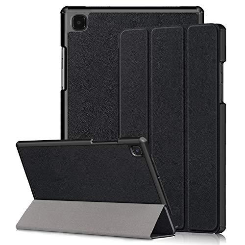 Kemocy Custodia per Samsung Galaxy Tab A7 10.4,Protezione in PU Pell con Funzione Supporto Smart Case Cover per Samsung Galaxy Tab A7 T505/T500/T507 10.4 2020 Tablet,A-Nero