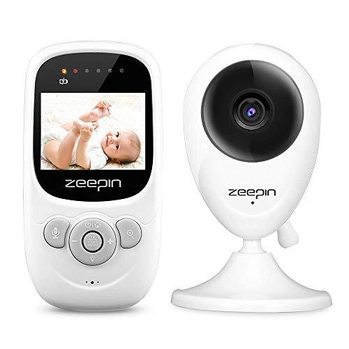 Moniteur Bébé, ZEEPIN Babyphone Caméra Numérique Sans Fil, Ecoute Bébé Baby Monitor avec Vision Nocturne Surveillance Vidéo Ecran LCD 2.4 Pouces