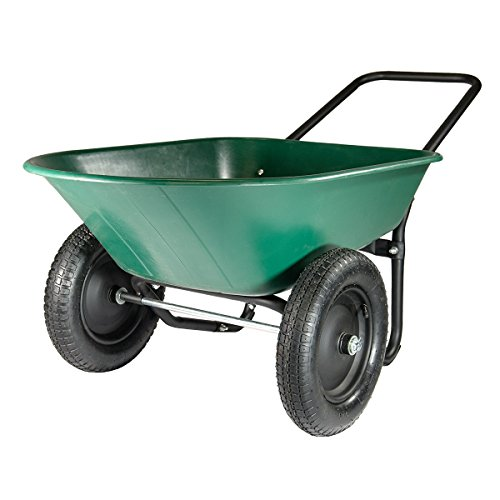 Marathon Yard Rover – 2 Tire Wheelbarrow Garden...