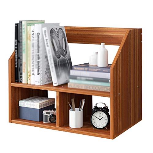 Rack Division Bookshelf Magazine 2-layer Partition Stratification Storage Desktop Office Desk Home Dormitory MUMUJIN (Color : A, Size : 51X20X40CM)