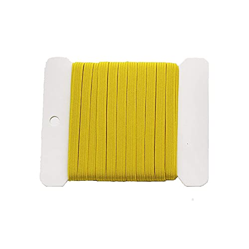 NIKB Yellow Elastic 1/4 inch Elastic for Sewing 1/4 inch 11-Yards Flat Yellow Elastic Bands for Masks /1/4 inch Yellow Elastic (1/4inch 11Yards Flat, Yellow)