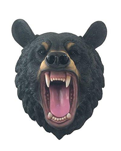 Black Bear 16 Inch Wall Mounted Head Sculpture - Animal Wall Mount Art - HD44143