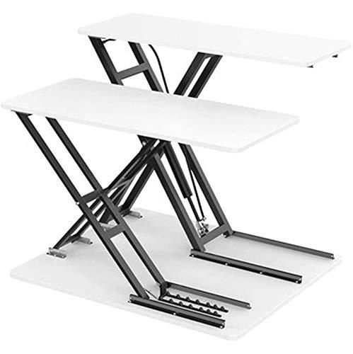 Mobile Laptop Stand Desk Computer Workstation, Laptop Table for Sofa/Bed, Laptop Desk, Standing Height Adjustable Computer Desk for Home Office,White