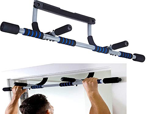 DRB DRIBBLING Fitness Doorway Pull-Up Bar | Multi-Purpose Portable Horizontal Chin Up Bar | Upper Body Trainer On The Doorway Wall Indoor Home Gym Exercise Equipment Without Screw for Body Workout