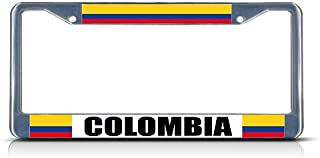Fastasticdeals Colombia Colombian Flag Country License Plate Frame Tag Holder Cover