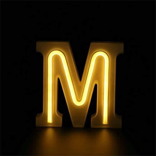 Moent LED USB-Buchstaben Lichter leuchten weiß Kunststoff Buchstaben Stehen hängend AZ &, Englisch Alphabet Lichter Dual-Use-Batterie ohne Fernbedienung