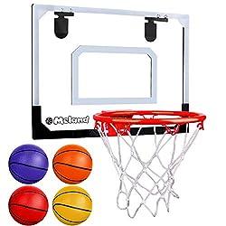 powerful Meland Kids Mini Basketball Hoop Set – With a Basketball Door Bracket with 4 Balls…