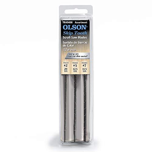 Olson Saw FR49400 Skip Tooth Scroll Saw Blade Assortment,36