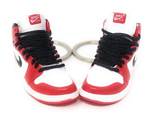 Pair Air Jordan I 1 Retro Chicago Red Black White OG Sneakers Mini...