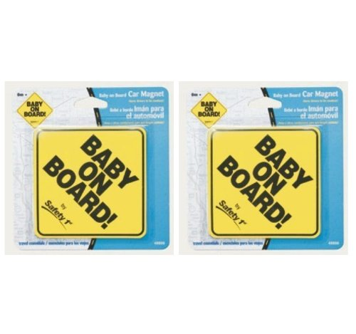 Safety 1st Baby On Board Magnet Yellow Carded by Safety 1st