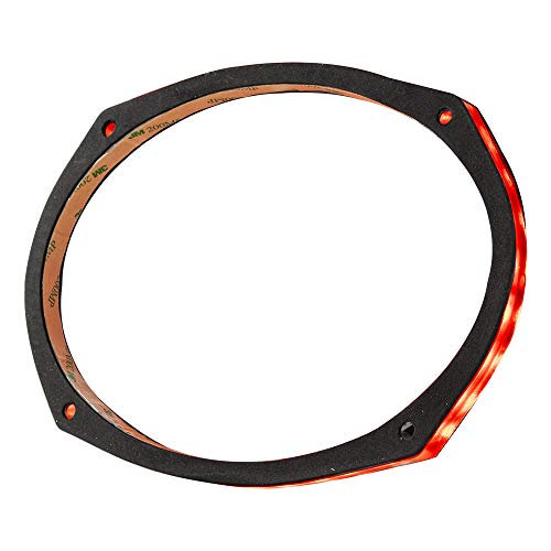 """DS18 LRING69 Speaker Grill Ring - Fits 6X9"""" Speaker, RGB LED Lighting, Acrylic Ring, Marine Watertight Seal, Compatible with RGB Remote Module - One Ring"""