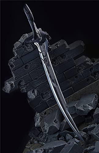 ZHWH Accesorios de muñeca de Figura a Escala 1/6, Cuchillo de aleación de Damasco Modelo de Metal en Miniatura para Figuras de acción de 12',A