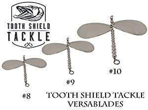 Tooth Shield Tackle Musky VersaBlade 3 Pack Muskie Pike Inline Spinner Musky Lures Baits Tackle Spinners