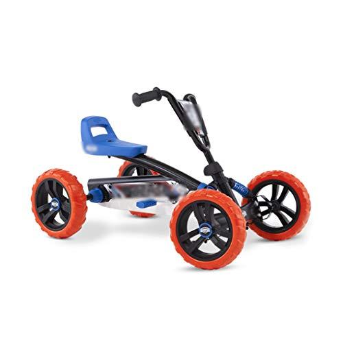 Bicicleta de montaña Campo a través Kart de Seguridad de Tres velocidades de Go Kart Cuatro Ruedas Pedal Kart niños Ajustable Rueda Trasera (Color : Black, Size : 83 * 49 * 50cm)