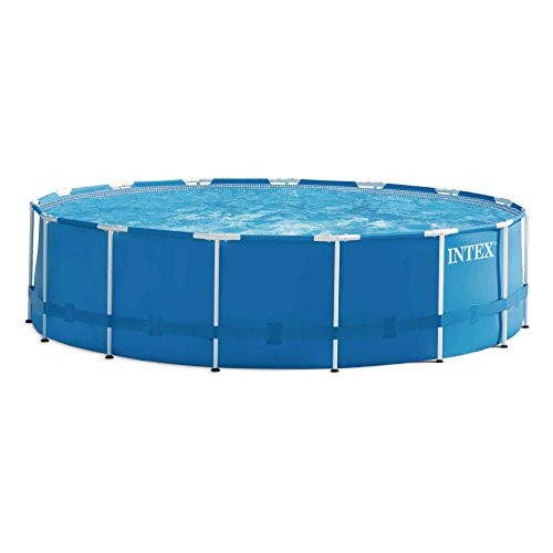 INTEX Kit piscine Metal Frame ronde 4,57 x 1,22 m