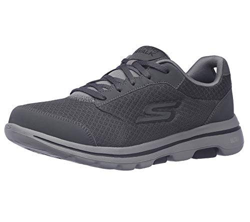 Skechers Performance Go Walk 5-Qualify, Zapatillas Hombre, Negro (CCBK Black Textile/Synthetic/Black Trim), 43 EU