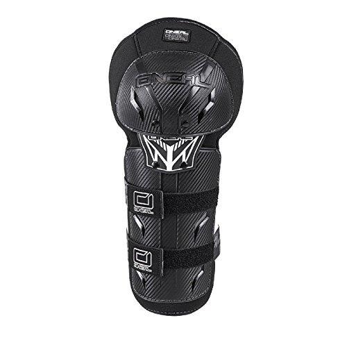 O'NEAL | Knieprotektor | Mountainbike MTB Downhill | Robuste Pastikschalen, Kunststoff in Carbon-Look, nach der Norm EN 1621-1 | Pro III Carbon Look Knee Guard | Erwachsene | Schwarz Weiß | Größe XS