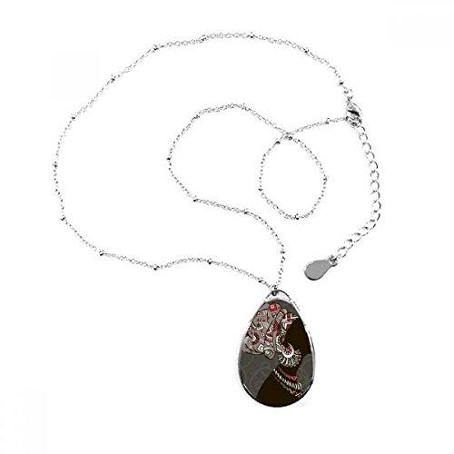 africano negro mujer aborigen flores lágrima forma colgante collar joyas con cadena...
