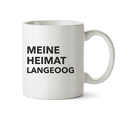 Mr. & Mrs. Panda Tasse Stadt Langeoog Text - MOTIVES_KEYWORDS Geschenk Geschenkidee Schenken Tasse Kaffeetasse Kaffee, Fan, Fanartikel, Souvenir, Andenken, Fanclub, Stadt, Mitbringsel
