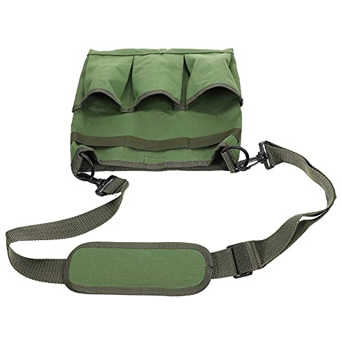Happyyami Attrezzo da Giardino Sacchetto di Spalla Crossbody Borsa degli Attrezzi della Tela di Canapa di Giardinaggio Organizer con Tracolla E 3 Tasche Pianta Strumento Carrier Bag per