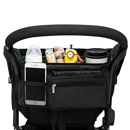 Universal Stroller Organizer with 2 Insulated Cup Holders, Lupantte...