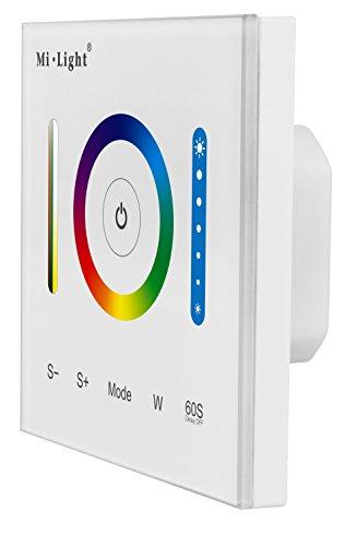 LIGHTEU, Controlador de panel inteligente P3, controlador LED RGB RGBW RGB + CCT 12 V 24 V, interruptor táctil regulador