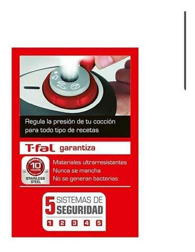 Olla De Presión T-fal Secure 5 Neo Roja 6 Lt Acero Inox