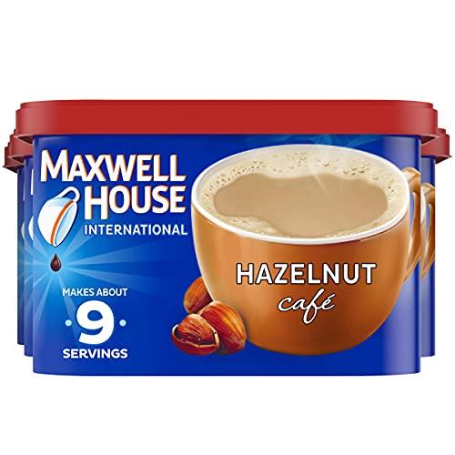 Maxwell House International Hazelnut Cafe-Style Beverage Mix, 9 oz Canister (Pack of 4)