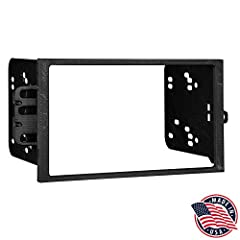 Install dash kit for Double DIN/ISO Radios Designed and manufactured with precision tolerances, resulting in a gapless fit between the dash and the kit Painted to match factory dash color High-grade ABS plastic construction Factory style texture Incl...