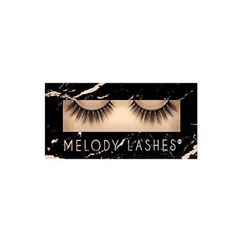 Melody Lashes Premium Synthetic komfortabel Vegan Handcrafted Fake Wimpern mit dünnem Baumwollband Passt zu allen Augenformen Einfach anzuwenden und zu entfernen 100% Tierversuchsfrei (Cutie)