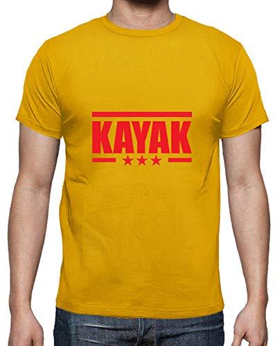 tostadora - T-Shirt Shirt Kajak - Sport - Manner Goldgelb XL