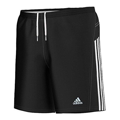adidas - Pantalone Corto da Uomo Response, 17,7 cm, Nero (Nero/Bianco), XXL